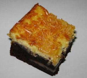 Cream Cheese Brownies Potong